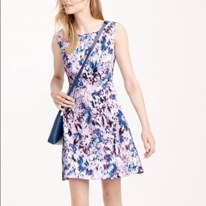 J Crew black label lavender floral dress S 12